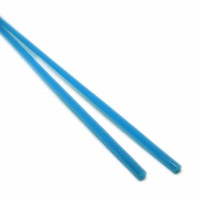 【A53】ガラスロッド(乳白青クリスタル(鉛)ガラス)100g