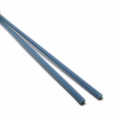 【A54】ガラスロッド(乳白青クリスタル(鉛)ガラス)100g