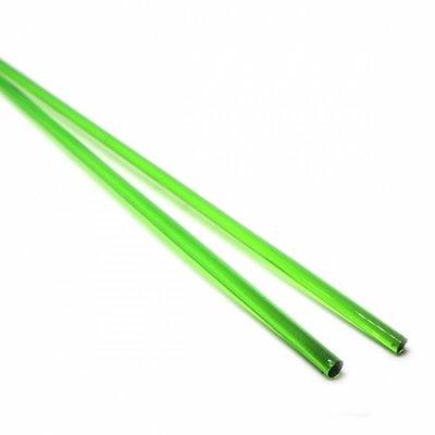 【A57】ガラスロッド(透明緑クリスタル(鉛)ガラス)100g