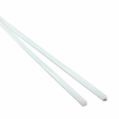 【A72】ガラスロッド(乳白薄青クリスタル(鉛)ガラス)100g