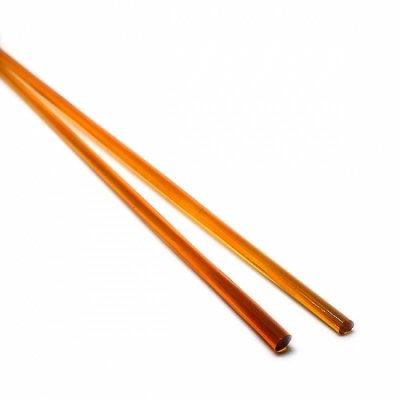 【B1】ガラスロッド(透明オレンジソーダガラス)100g