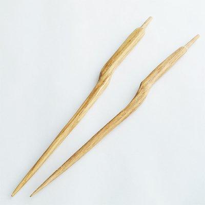 国産木製かんざし棒01(ナラ)