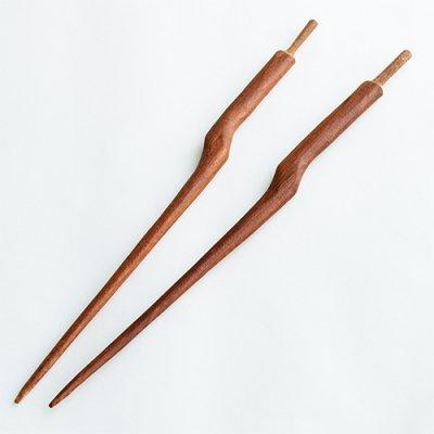 国産木製かんざし棒02(花梨)
