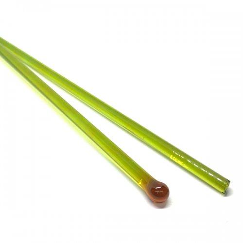 【CX167】ガラスロッド(透明黄緑アルカリシリケートガラス)100g