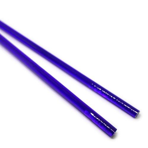 ハーフサイズ【A18】ガラスロッド(青透明クリスタル(鉛)ガラス)100g