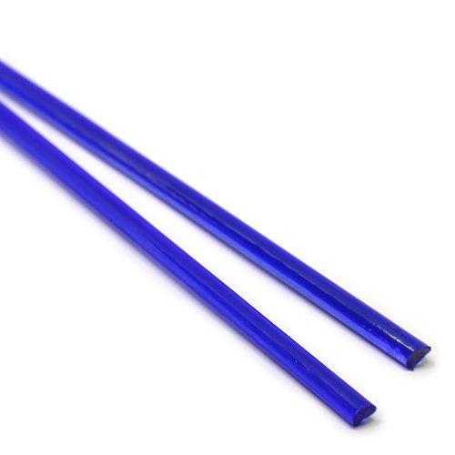 ハーフサイズ【A81】ガラスロッド(青透明クリスタル(鉛)ガラス)100g