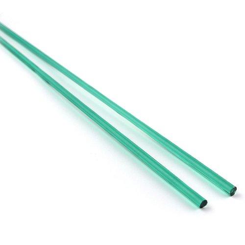 【CX183】ガラスロッド(透明緑アルカリシリケートガラス)100g