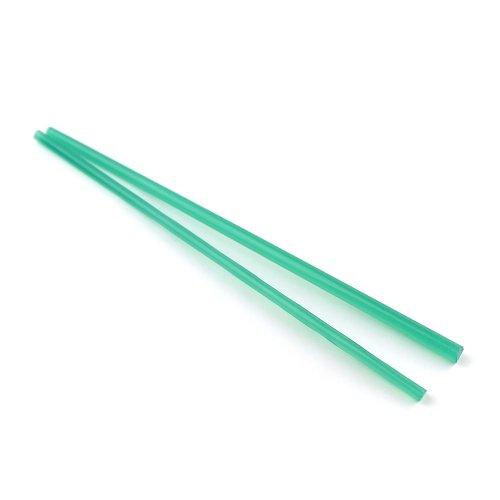 ハーフサイズ【CX74】ガラスロッド(半透明緑アルカリシリケートガラス)100g