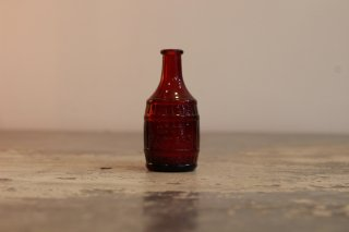 VINTAGE GLASS MINI BOTTLE ROOT BITTERS