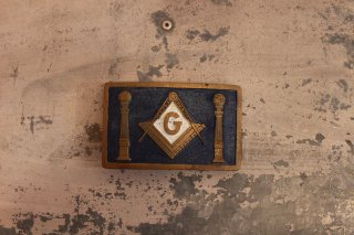 VINTAGE MASONIC BELT BACKLE