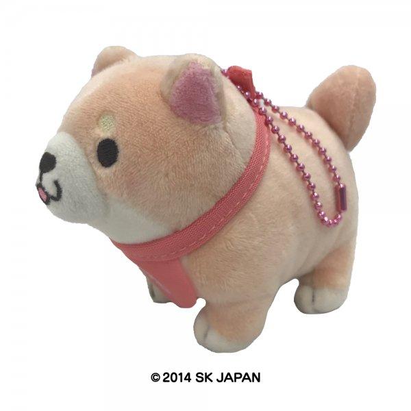 忠犬もちしば 立ちポーズ ぬいぐるみ ボールチェーン(さくら)