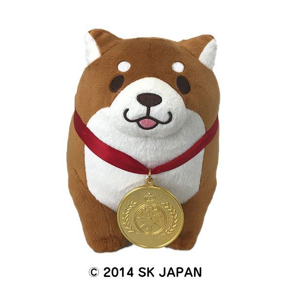 忠犬もちしば ぬいぐるみ Sサイズ おすわり【金メダル】(おかか)