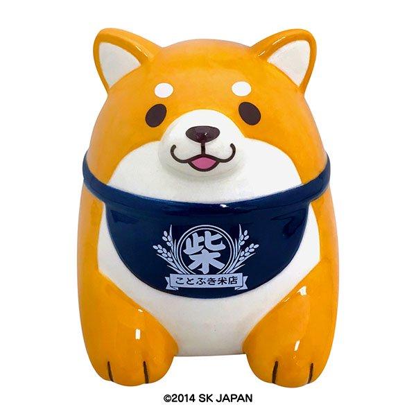 忠犬もちしば 陶器バンク 貯金箱(おかか)