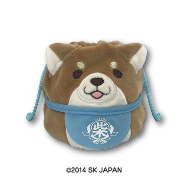 忠犬もちしばのびる巾着Sサイズ(もなか)
