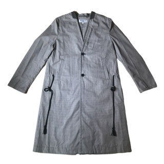 <img class='new_mark_img1' src='https://img.shop-pro.jp/img/new/icons1.gif' style='border:none;display:inline;margin:0px;padding:0px;width:auto;' />masao shimizu Gray Checkered No Collar Coat