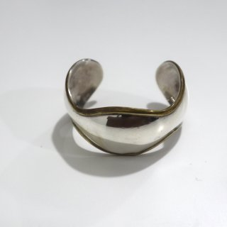 Mexican Silver & Brass Modern Bangle