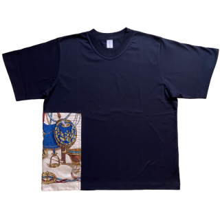 <img class='new_mark_img1' src='https://img.shop-pro.jp/img/new/icons1.gif' style='border:none;display:inline;margin:0px;padding:0px;width:auto;' />double neck Tshirt -hermes vintage-[EXCLUSIVE]25