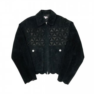 <img class='new_mark_img1' src='https://img.shop-pro.jp/img/new/icons1.gif' style='border:none;display:inline;margin:0px;padding:0px;width:auto;' />FLOWER CUT LEATHER BLOUSON