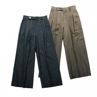 <img class='new_mark_img1' src='https://img.shop-pro.jp/img/new/icons1.gif' style='border:none;display:inline;margin:0px;padding:0px;width:auto;' />MELANGE TWEED WIDE TROUSERS
