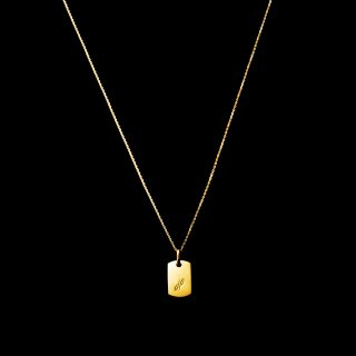 「MINITAG Necklace」 SV925 GoldCoating