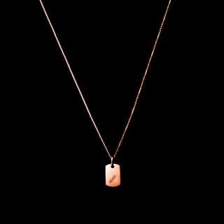 「MINITAG Necklace」 K18PG