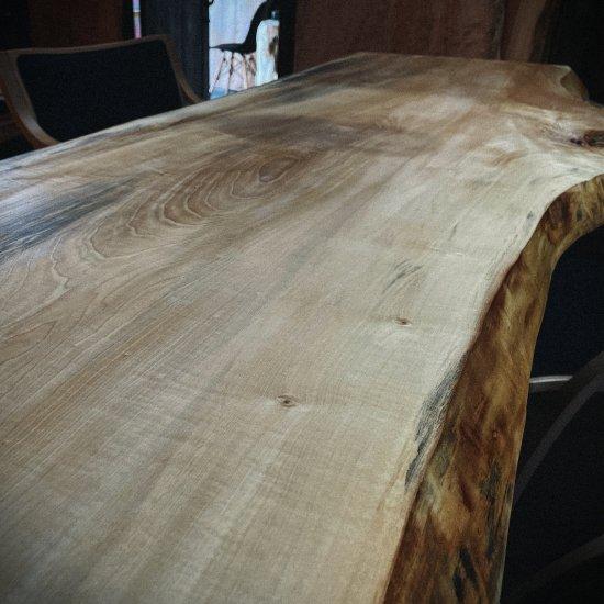 一枚板 ダイニングテーブル 栃(トチ)一枚板 大阪