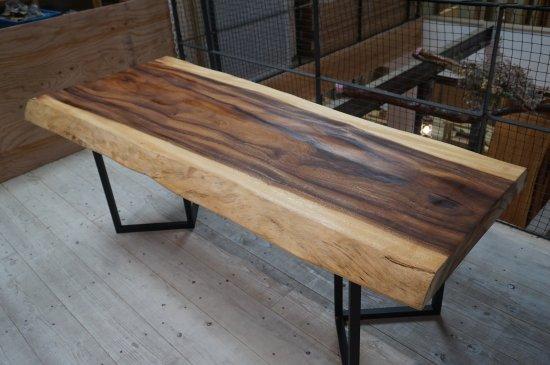 一枚板 ダイニングテーブル モンキーポッド一枚板 大阪
