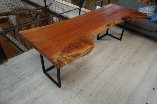 一枚板 ダイニングテーブル 欅(ケヤキ)一枚板 大阪