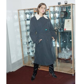 Military Quelting Trench Coat