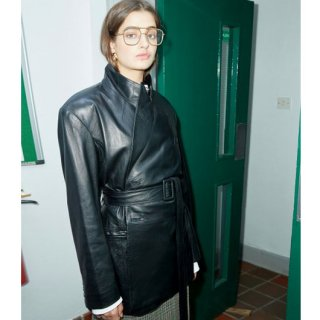 Leather Belted Jacket