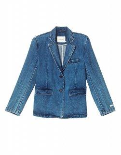 Single-breasted denim jacket