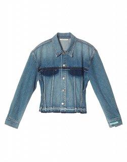 Vintage denim trucker jacket
