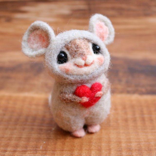 幸せのお守り 干支シリーズ「子」ネズミハートmomoちゃん