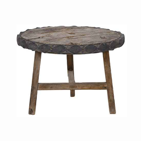 NOBLE SOULS ABODE VINTAGE ROUND COFFEE TABLE