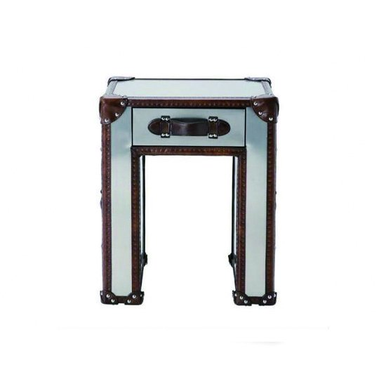 【HALO】SLAB LAMP TABLE /BRUSHED STEEL