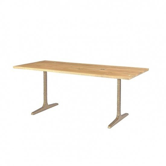 【SQUARE ROOTS】T LEG DINING TABLE /RAW OAK BRONZE