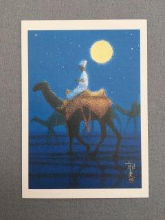 [絵はがき]月光の砂漠を行く
