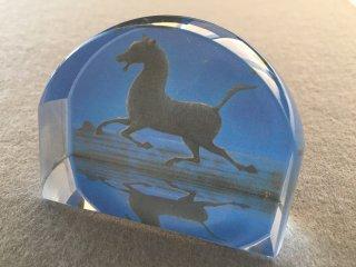 [クリスタルガラス拡大鏡]西域の馬