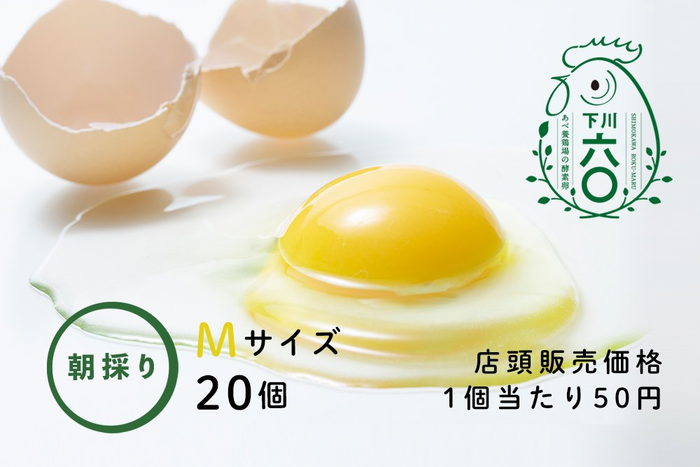 <strong>下川六〇酵素卵 Mサイズ 20個</strong>