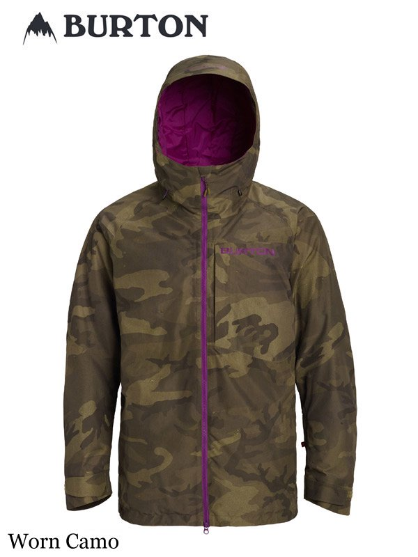 19/20モデル Men's Burton GORE-TEX Radial Shell Jacket #Worn Camo [179851]