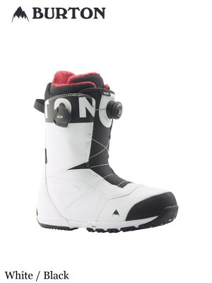 19/20モデル Men's Burton Ruler Boa Wide Snowboard Boot #White / Black [214261] _ BURTON | バートン