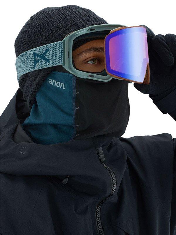 19/20モデル Men's Anon M4 Cylindrical Goggle AF + Spare Lens + MFI Face Mask #Frame:Lay Back [203401]