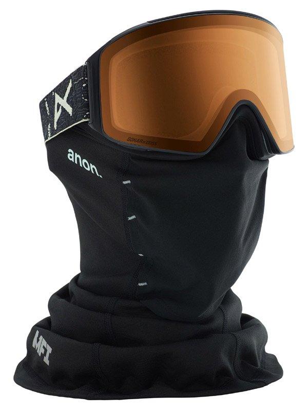 19/20モデル Men's Anon M4 Cylindrical Goggle AF + Spare Lens + MFI Face Mask #Frame:Topo Black [203401]