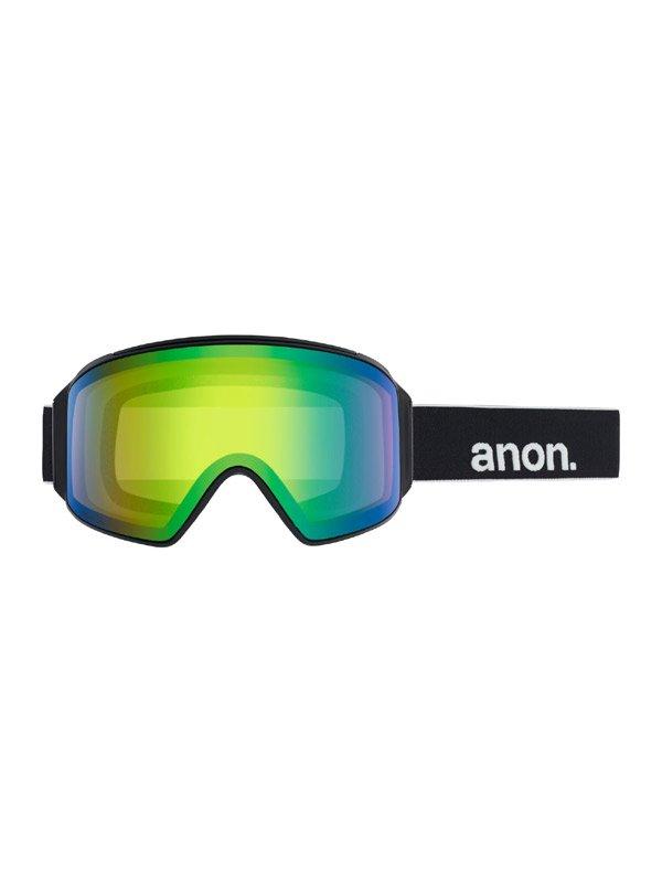 19/20モデル Men's Anon M4 Cylindrical Goggle AF + Spare Lens + MFI Face Mask #Frame:Black [203401]