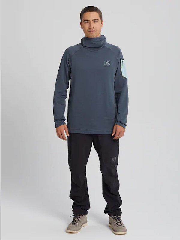 20春夏モデル Burton [ak] Polartec Grid Pullover Fleece #Dark Slate [217371]