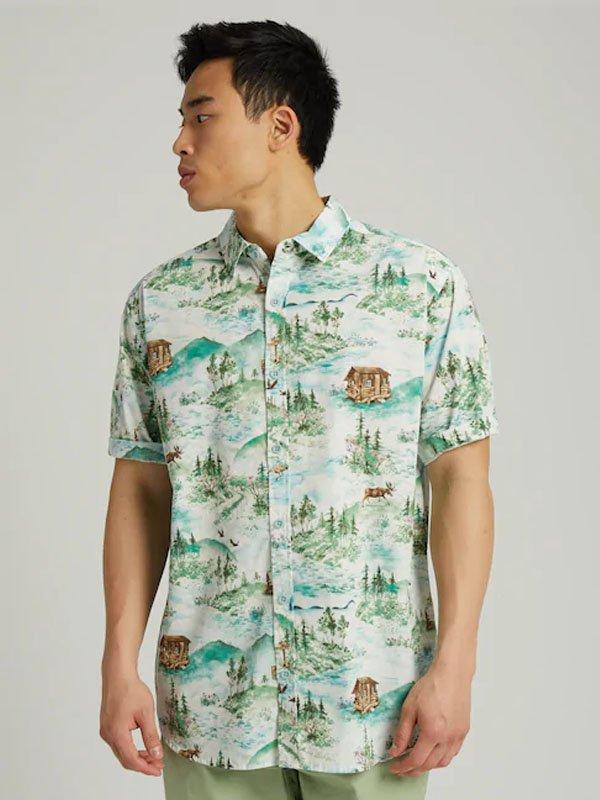 20春夏モデル Men's Burton Shabooya Camp Short Sleeve Shirt #Sterling Pond [208431]