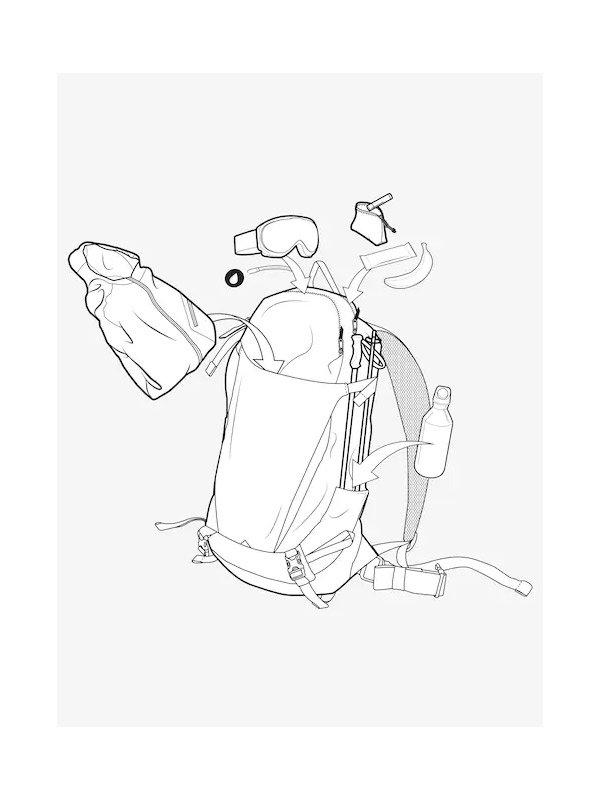 20春夏モデル Burton Skyward 18L Backpack #Black Cordura [205071]