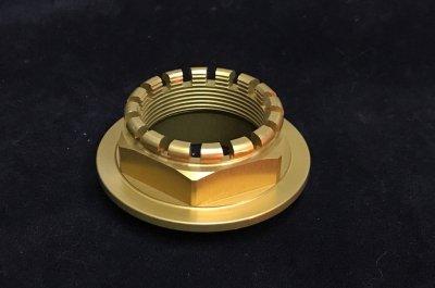 916 748 ワンピース リヤアクスルナット  (Racing Gold)