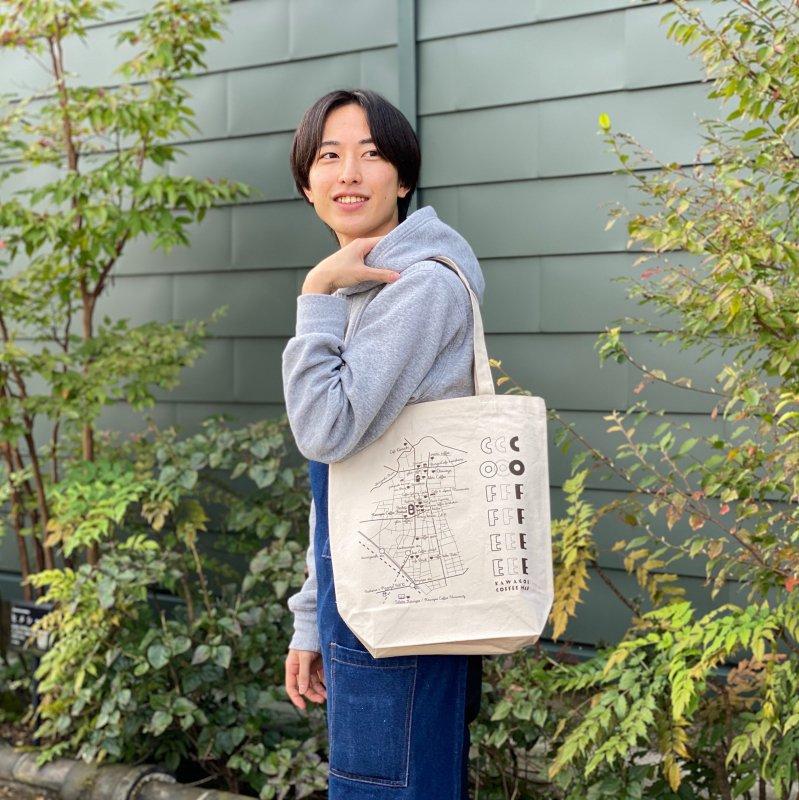 川越コーヒーマップトート+チケット4枚+抗菌マスクケース