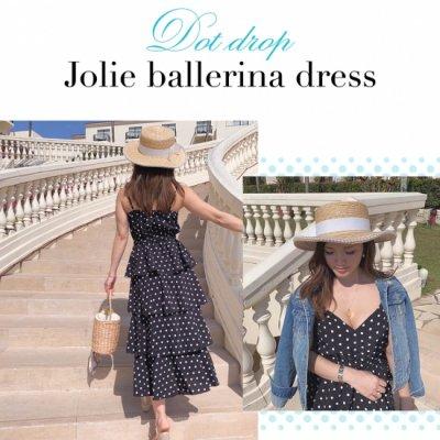 Dot drop Jolie ballerina dress